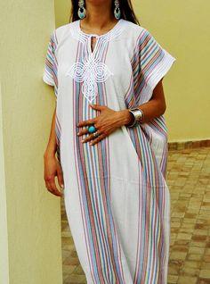 Kaftan Sale Off/ Bedouin Style Resort Caftan Kaftan- White-Perfect as loungewear, as beachwear,c Strand Kaftan, Winter Dresses, Summer Dresses, White Kaftan, Indian Wedding Gowns, Mode Abaya, Beach Kaftan, Sleepwear & Loungewear, African Traditional Dresses