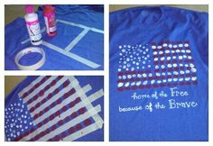 Finger print flag shirt