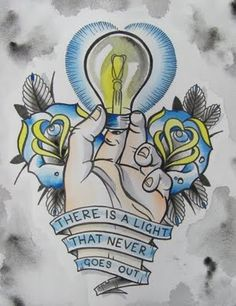 The Smiths tattoo flash by Julia Seizure