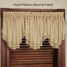 Elegance Sheer Layered Ascot Valance in 2019 Swag Curtains, Curtains And Draperies, Elegant Curtains, Home Curtains, Kitchen Curtains, Curtains 2018, Valances, Window Curtains, Valance Window Treatments