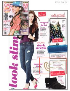 ML Accessories by Monique Leshman in the August 2013 issue of Seventeen Magazine. The 3 tiered chain necklace looks great!