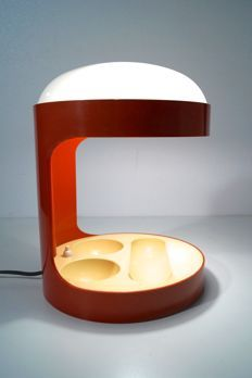 Online veilinghuis Catawiki: Joe Colombo for Kartell - Table lamp, model Philippe Starck, Space Age, Light Fixtures, Red And White, Table Lamp, Feng Shui, Product Design, Model, Profile
