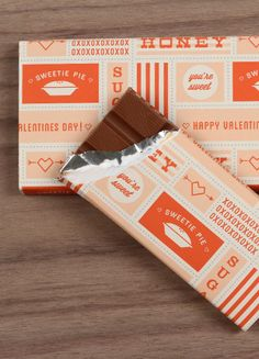 "STYLE NAME: Valentines Day Chocolate Wrapper        Valentine's Day      Chocolate Bar Wrapper: 8.5"" x 11"""