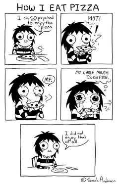 Funny face doodles sarah andersen Ideas for 2019 Sarah See Andersen, Sarah Andersen Comics, Cute Comics, Funny Comics, Saras Scribbles, Sara Anderson, Face Doodles, The Awkward Yeti, 4 Panel Life