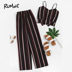 Striped Cami Top With Pants Striped Cami Top With PantsFor Wome. - Striped Cami Top With Pants Striped Cami Top With PantsFor Women-romwe Striped Cami Top With Pants Striped Cami Top With PantsFor Women-romwe Source by - Girls Fashion Clothes, Teen Fashion Outfits, Cute Fashion, Girl Outfits, Boy Clothing, Style Clothes, Fashion Styles, Boy Fashion, Womens Fashion