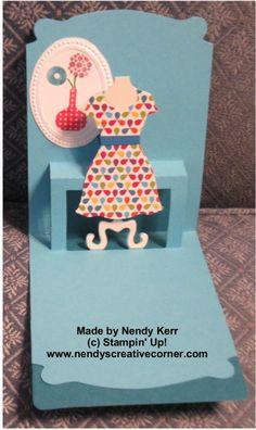 Pop n Cut Dress Card inside