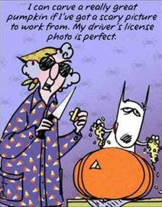 Maxine Halloween Cartoons | Halloween Maxine Halloween Happy Pumpkin Carving Carves Pumpkins LOL ...