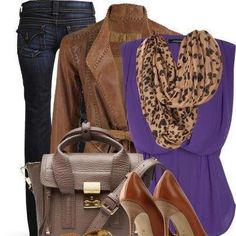 Animal print+tan+purple