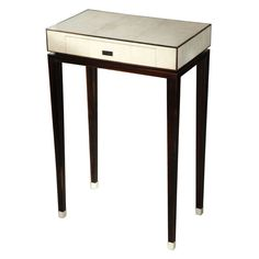 An Art Deco Diminutive Shagreen and Rosewood Table