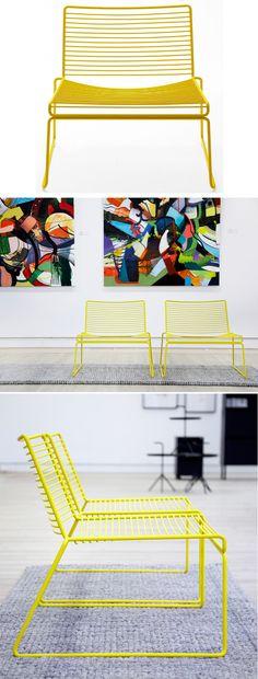 「04プロダクト Hee Lounge Chair -Yellow-」ハルタ 北欧家具ONLINE STORE
