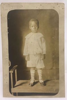 Antique-c1920-African-American-Child-Sailor-Suit-Photo-RPPC