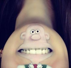 schminken lippen coole Comicfiguren umgekehrt
