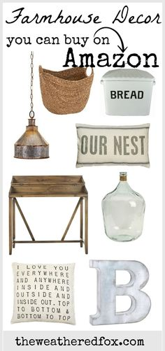 Farmhouse #Decor from Amazon. Get awesome farmhouse #decor delivered right to your door at affordable prices. Every growing and constantly updated farmhouse style products.