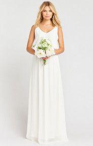 Kendall Maxi Dress ~ Wedding Cake Chiffon