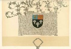 15th C English Patents of Arms with texts. LOTS of them, text and images.