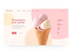 Balosto by Maxim Podavalkin Graphic design inspiration website design inspiration Life is ice cream on a summer day. Do not waste your time, eat fast :) The first screen for a craft ice cream company. Website Design Inspiration, Best Website Design, Graphic Design Inspiration, Website Designs, Graphisches Design, Clean Design, Page Design, Layout Design, Design Logos