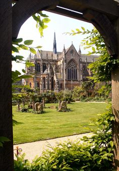 Arundel Cathedral from Castle Gardens, West Sussex, England.