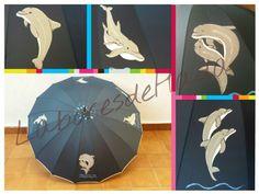 Paraguas  con delfines