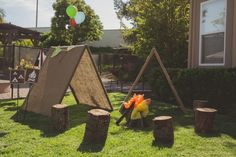 58 Ideas for backyard party ideas for kids camping theme Kinder Party Setup 1st Birthday Parties, Boy Birthday, Birthday Celebration, Birthday Ideas, Birthday Goals, Camping Accesorios, Camping Parties, Camping Lunches, Camping Themed Party