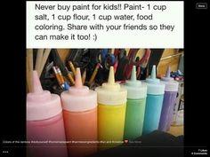 Never buy paint for kids!