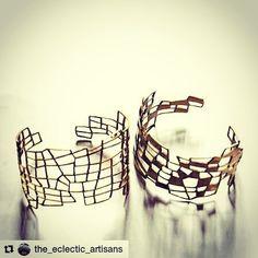 I love her design💜💙💜💙 ―――――――――― #Repost @the_eclectic_artisans with @repostapp ・・・ Designer Bernadette van de Braak  from the brand B-made has turned her travels through Nepal into a thriving enterprise. Van de Braak has her designs made by hand in Kathmandu by local skilled artisans. you can read more via her website http://www.b-made.eu #inspiration #design #cuffs #bangles #jewellery #handcrafted #negativespace #bijoux #contemporaryjewellery #bangles #b-made #bernadettevandebraak…