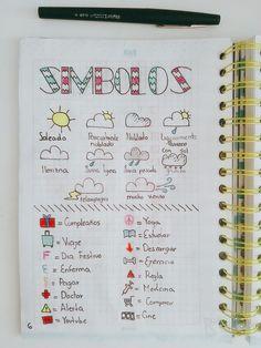 Cuarta pagina de bullet journal - simbolos para bullet journal