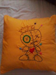 Cute Voodoo Doll Cushion Cover/Case Yellow by HeartWarmingCraft Death Tattoo, Urban Threads, Voodoo Dolls, Random Stuff, Cool Stuff, Irish, Alternative, Goth, Cushions