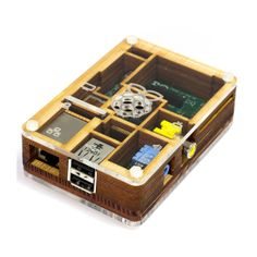 Raspberry Pi Pimoroni Pibow Timber - Case für Raspberry Pi Model B