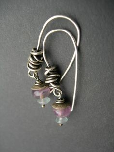 inkjewelry, etsy - are those just a bunch of jump rings piled up on each other?  Or a wrapped wire?  Either way I like it.