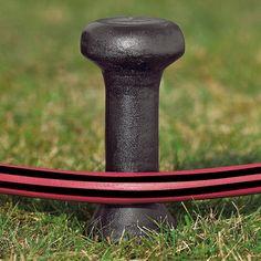 garden hose stakes. cast aluminium hose stake | gardening tools garden stakes k
