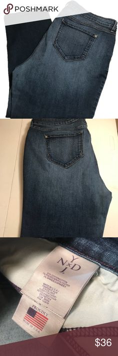 "NYDJ 20W Boyfriend Lift Tuck Ombré Blue Jeans NYDJ 20W Boyfriend Lift Tuck Ombré Jeans Approximate Measurements: 27"" Inseam; 20"" Waist Measured Flat On Front; 12"" Rise; 7.5"" Leg Opening Pre-Owned no rips or stains NYDJ Jeans Boyfriend"