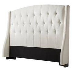 Roma Tufted Wingback Headboard Slate - Queen/Full : Target