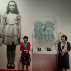 Lisa and Louise Burns, who played the Grady twins in The Shining, visit their iconic dresses at the Stanley Kubrick Exhibit at the National Museum in Krakow, Poland. http://www.theoverlookhotel.com