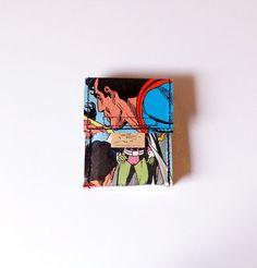 SUPERMAN D.C. cigarette case comic upcycling unique piece from PauwPauw on Etsy
