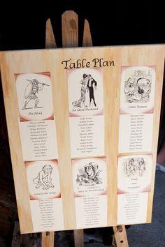 book theme table pla