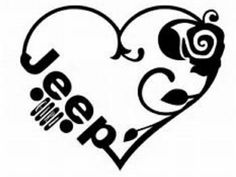 Jeep Love Decal – Your Way Custom Decals and Tees Jeep Stickers, Jeep Decals, Bumper Stickers, Vinyl Decals, Custom Decals, Jeep Wrangler Accessories, Jeep Accessories, Jeep Tattoo, Red Jeep