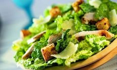 Caesar salad at SINCE 2016 -- made with a lighter and delicious lime Caesar dressing. Salad Recipes Video, Healthy Salad Recipes, Grilled Chicken Caesar Salad, Google Plus, Good Food, Yummy Food, Vegetable Pasta, How To Make Salad, Food For A Crowd