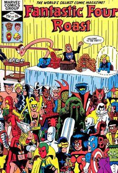 Fantastic Four Roast (1982) No. 1, multiple artists, humor, Fred Hembeck, 1980s, comic books, favorites, Marvel Comics