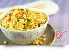 Vegetarian Rice Pilaf, mint & parsley: A healthy vegetarian dish for all to enjoy Vegetarian Cooking, Vegetarian Recipes, Gourmet Garden, Quick Easy Meals, Fried Rice, Parsley, Food And Drink, Mint, Lunch