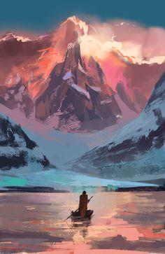 Long walk home, Marcin Fogler on ArtStation at https://www.artstation.com/artwork/bP0Gv