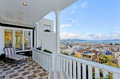 It is all about the view.  Classic details, world-class views dominate Pacific Heights home
