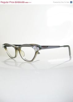3514b30ca6 SALE 25% Off Vintage 1950s Century Cat Eye Glasses Eyeglasses 50s Mid  Century Optical Frames