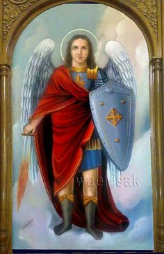 M Angel Protector, Christian Religions, Prophetic Art, Archangel Michael, Catholic Saints, Black Women Art, St Michael, Religious Art, Female Art