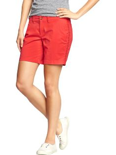"Womens Twill Shorts (7"") Old Navy"