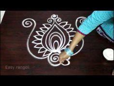 (21) creative and beautiful freehand easy peacock rangoli designs || kolam designs || Ugadi muggulu - YouTube