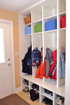 Mudroom Cubbies with Adjustable upper and lower storage