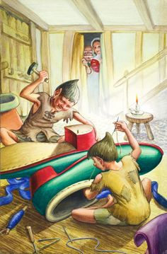 Elves at work - The Elves and the Shoemaker