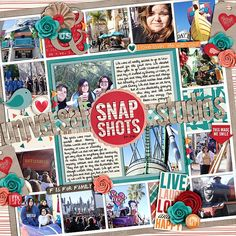 Cindy's Layered Templates - Single 63: Lots of Snapshots 32 by Cindy Schneider A Happy Family: Lovin' Life by Traci Reed and Shawna Clingerman