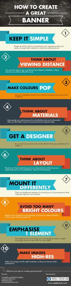 How to Create a Great Banner   #infographic   #Advertising #HowTo #Design