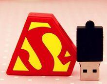 Forma usb flash drives granel 1 gb superman de energía de menos de 1 dólar